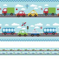 Faixa Decorativa Infantil Adesiva Carros 6mx15cm - Quartinhos