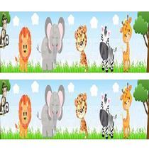 Faixa Decorativa p/ Quarto Infantil Bebe Adesivo Safari - Decore Fácil
