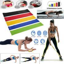 Faixa Elástica 5 níveis Band Extensor Resistance Belt Funcional Malhação Musculação -