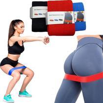 Faixa Elástica Níveis Resistência Pernas Braços Funcional Musculação Malhar Pilates Ginastica Fisioterapia (Super Forte) - Lx