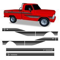 Faixa Ford F-1000 Adesivo Decorativo Lateral Cabine Simples - Sportinox