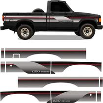 Faixa Lateral D-20 96 Chevrolet Cabine Simples Decorativa - Decal Line