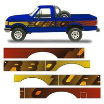 Faixa Lateral F-1000 1993 Turbo Adesivo Cabine Simples Ford - Sportinox
