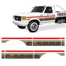 Faixa Lateral F-4000 1993 SS Adesivo Cab. Simples Prata/ouro - Sportinox