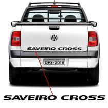 Faixa Tampa Traseira Saveiro Cross 2011, 2012 e 2013 Adesivo Preto - Sportinox
