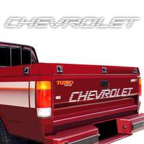 Faixa Traseira Chevrolet D20 Adesivo Branco Modelo Original - Sportinox
