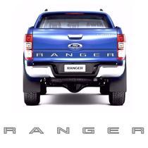 Faixa Traseira Ford Ranger 2013/2019 Adesivo Prata e Preto - Sportinox