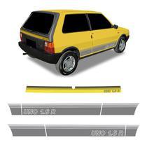 Faixa Uno 1.6 R Adesivo Lateral E Traseiro Modelo Original - Sportinox
