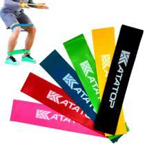 Faixas Elásticas Mini band Pilates Yoga Exercícios Funcional Musculacao 6 Unidades - Katatop