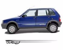 Faixas Uno Way 4 Portas 2008 2009 2010 2011 2012 - Cinza - Prime