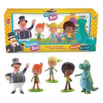Família Mundo Bita Bonecos Vinil Tito Lila Argo Dan - Líder - Lider Brinquedos