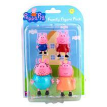 Familia peppa 4 figuras - sunny brinquedos -