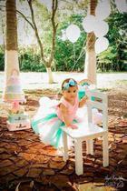 Fantasia Bebê Arco Íris tule rosa - Princesa urbana