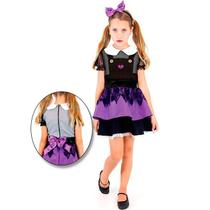 6b71bfa6dc Fantasia Boneca do Mal Infantil Halloween Com Tiara - Sulamericana