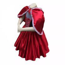 Fantasia chapeuzinho vermelho adulto com capuz - Partylight