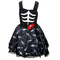 ce7e80b87 Fantasia de Halloween Infantil Jardineira Feminina - Fantasias carol kb