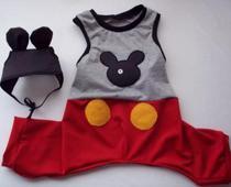 Fantasia de Mickey Mouse para cachorro e gato Ninelai -