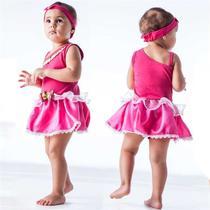 441b20ec80 Fantasia de Princesa Bebê Rosa Encantada Com Faixa 3 a 18 meses - Fantasias  carol fsp