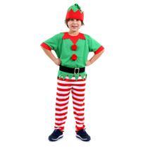 Fantasia Duende Masculino Infantil - Natal -