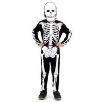 Fantasia Esqueleto Glow Infantil - Halloween -