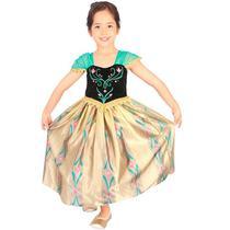 f94b01c18b Fantasia Frozen Anna Baile Infantil Luxo Disney - Rubies