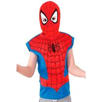 Fantasia Homem Aranha / Spider Man Infantil Com Gorro Original - Global Fantasias