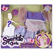 Fantasia Infantil - Sparkle Girlz - Vestido de Princesa e Boneca Sortida - DTC -