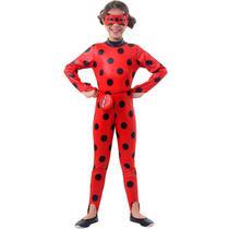 Fantasia Ladybug Infantil Original Miraculous Com Pochete - Sulamericana