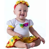 Fantasia Palhacinha Bebê Com Faixa 3 a 18 meses - Fantasias Carol Fsp