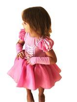 Fantasia princesa ariel cute infantil com luva m - PARTYLIGHT
