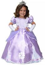 Fantasia princesa sofia armado com luva e tiara infantil g - PARTYLIGHT