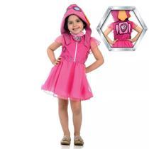 Fantasia Skye Patrulha Canina Infantil Vestido Com Gorro Original Nickelodeon Sulamericana 25262 - Sulamericana Fantasias