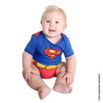 Fantasia Super Homem Body Bebê Verão - Liga da Justiça -
