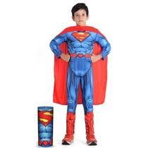 Fantasia Super Homem / Super Man Infantil Premium DC Comics - Sulamericana