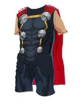 Fantasia Thor Manga Curta Capa Vingadores Oficial Infantil - Regina