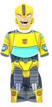 Fantasia Transformers Bumblebee Infantil Curta Máscara Nova - Regina
