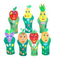 Fantoches Frutas Feltro 7 Personagens - Carlu