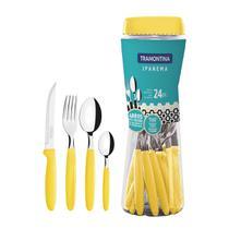 Faqueiro Tramontina 23399591 Ipanema 24 Peças Aço Inox Amarelo -