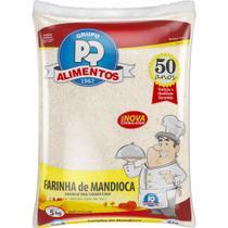Farinha de mandioca 5kg pq alimentos -