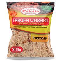 Farinha de mandioca temperada sabor tradicional 300g - Poletto Alimentos