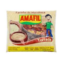 Farinha de Mandioca Torrada Amafil 1kg -
