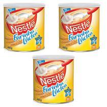 Farinha Láctea Tradicional Nestlé 400g - Kit 03 Unidades -