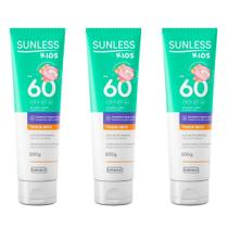 Farmax Sunless Kids Fps 60 Toque Seco Protetor Solar 200g (Kit C/03) -