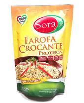 Farofa Crocante Proteica de Soja Sabor Tempero Caseiro 300g - Sora