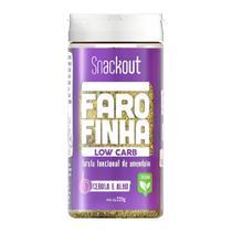 Farofa Farofinha Cebola e Alho Low Carb (220g) - Snackout -