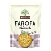 Farofa Orgânica Cebola e Alho Mãe Terra 200g -