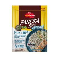 Farofa Pronta 5 Grãos e Ervas Provençais 200g - Caldo Bom -
