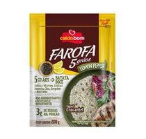 Farofa Pronta 5 Grãos e Lemon Pepper 200g - Caldo Bom -