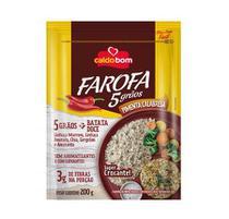 Farofa Pronta 5 Grãos e Pimenta Calabresa 200g - Caldo Bom -