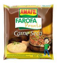 Farofa pronta carne seca Amafil 250g -